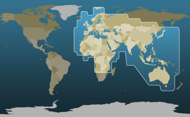 Thuraya's Coverage Map