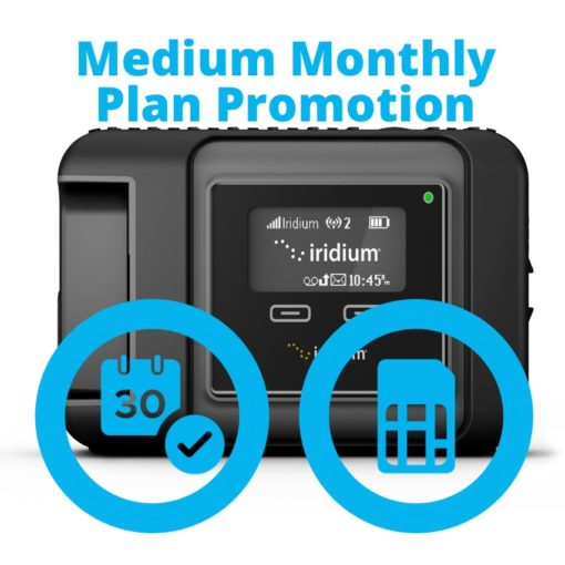 Iridium GO Medium Monthly Plan Promotion