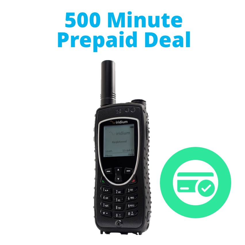 Iridium Extreme - 500 Minute Prepaid Promotion - 9575 Satellite Phone